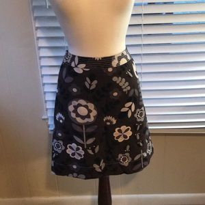 Boden brown floral skirt size US 6 UK 10